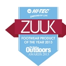 Hi-Tec Zuuk wins Footwear Product of the Year Award at the Great Outdoors Awards 2013